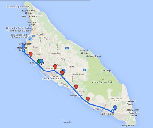 Aruba Half Map