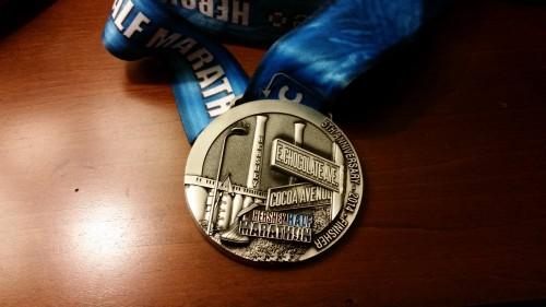 Hershey Half Marathon Medal 2014